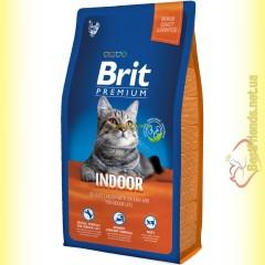 Brit Premium Cat Indoor корм для кошек, живущих в помещении 8кг