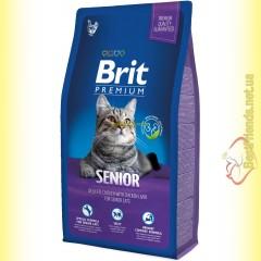 Brit Premium Cat Senior корм для пожилых кошек 8кг