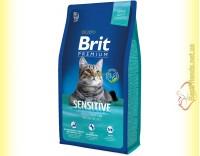 Купить Brit Premium Cat Sensitive корм для кошек c чувствительным пищеварением 8кг