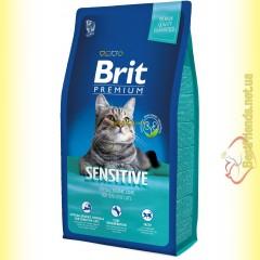 Brit Premium Cat Sensitive корм для кошек c чувствительным пищеварением 8кг