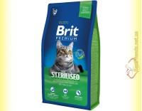 Купить Brit Premium Cat Sterilised корм для стерилизованных кошек 8кг