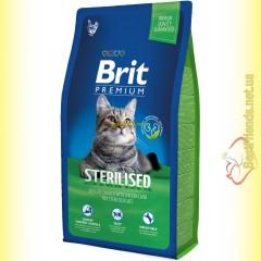 Brit Premium Cat Sterilised корм для стерилизованных кошек 8кг