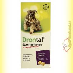 Drontal плюс таблетки со вкусом мяса для собак