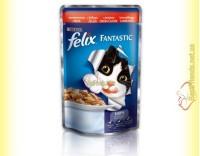 Купить Felix Fantastic кусочки с Говядиной в желе 100гр