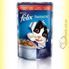 Felix Fantastic кусочки с Говядиной в желе 100гр
