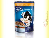 Купить Felix Fantastic кусочки с Курицей и томатами в желе 100гр