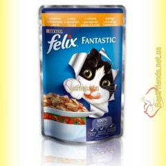 Felix Fantastic кусочки с Курицей и томатами в желе 100гр