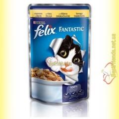 Felix Fantastic кусочки с Курицей в желе 100гр