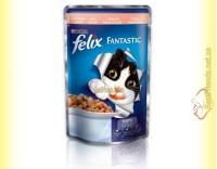 Купить Felix Fantastic кусочки с Лососем в желе 100гр