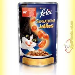 Felix Sensations Jellies с Говядиной в желе с томатами 100гр