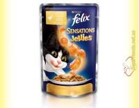 Купить Felix Sensations Jellies с Курицей в желе с морковью 100гр