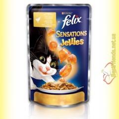 Felix Sensations Jellies с Курицей в желе с морковью 100гр