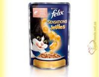 Купить Felix Sensations Jellies с Лососем в желе с треской 100гр