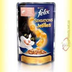 Felix Sensations Jellies с Лососем в желе с треской 100гр