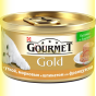 Gourmet Gold кусочки в паштете с Уткой, Морковью и Шпинатом по-французски 85гр