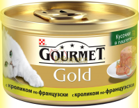 Купить Gourmet Gold кусочки в паштете с кроликом по-французски 85гр