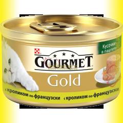 Gourmet Gold кусочки в паштете с кроликом по-французски 85гр