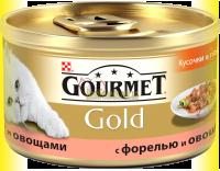 Купить Gourmet Gold кусочки в подливке с форелью и овощами 85гр