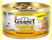 Купить Gourmet Gold Нежные биточки с курицей и морковью 85гр