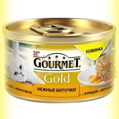 Gourmet Gold Нежные биточки с курицей и морковью 85гр
