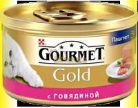 Купить Gourmet Gold паштет с говядиной 85гр