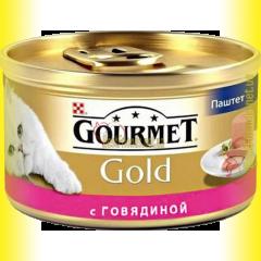 Gourmet Gold паштет с говядиной 85гр