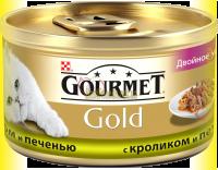 Купить Gourmet Gold с кроликом и печенью 85гр