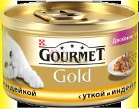 Купить Gourmet Gold с уткой и индейкой 85гр