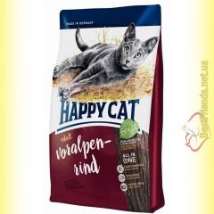 Happy Cat Supreme Voralpen Rind корм для кошек с говядиной 10кг