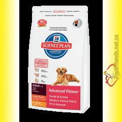Hill's Science Plan Canine Adult Advanced Fitness Large Breed с Курицей, для крупных собак 12кг