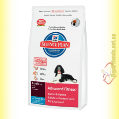 Hill's Science Plan Canine Adult Advanced Fitness с Тунцом и Рисом, для собак 12кг