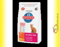 Купить Hill's Science Plan Feline Adult Sensitive Skin Курица, для кошек 5кг