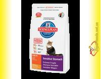 Купить Hill's Science Plan Feline Adult Sensitive Stomach Курица с яйцом и рисом, для кошек 400гр