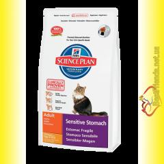 Hill's Science Plan Feline Adult Sensitive Stomach Курица с яйцом и рисом, для кошек 5кг