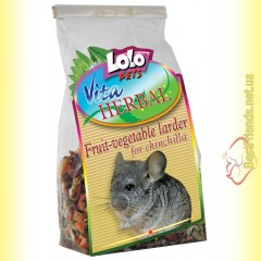 LoLo Pets Vita HERBAL Сушеные овощи и фрукты для шиншилл 100гр