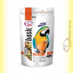 LoLo Pets basic for Big Parrots Полнорационный корм для крупных попугаев 350гр