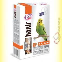 LoLo Pets basic for Budgie Полнорационный корм для волнистых попугаев 500гр