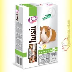 LoLo Pets basic for Guinea Pig Полнорационный корм для морской свинки 500гр
