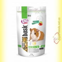 LoLo Pets basic for Guinea Pig Полнорационный корм для морской свинки с фруктами 600гр