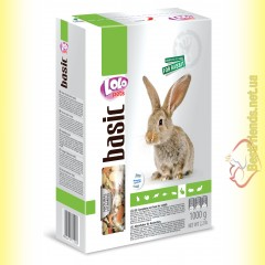 LoLo Pets basic for Rabbit Полнорационный корм для кроликов 1кг