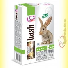 LoLo Pets basic for Rabbit Полнорационный корм для кроликов 500гр