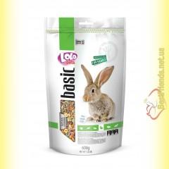 LoLo Pets basic for Rabbit Полнорационный корм для кроликов 600гр