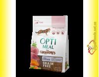 Купити Optimeal Grain Free Duck Беззерновий корм для котів - Качка та овочі