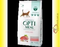 Купити Optimeal Sterilised для дорослих кастрованих котів та стерилізованих кішок - Яловичина та Сорго