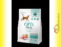 Купити Optimeal Sterilised для дорослих кастрованих котів та стерилізованих кішок - Індичка та Овес
