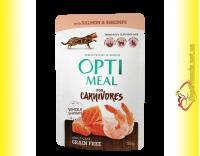 Купить Optimeal Grain Free with Salmon Беззерновой корм для взрослых кошек с Лососем 85гр