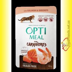 Optimeal Grain Free with Salmon Беззерновой корм для взрослых кошек с Лососем 85гр