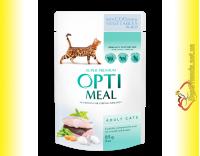 Купить Optimeal with Cod Fish&Vegetables для взрослых кошек с Треской и овощами 85гр