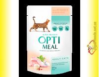 Купить Optimeal with Rabbit для взрослых кошек с Кроликом в белом соусе 85гр