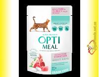 Купить Optimeal Sensitive Digestion with Lamb&Turkey для кошек c Чувствительным пищеварением 85гр